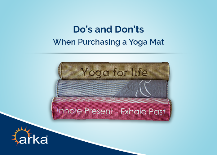 Do's and Don'ts When Purchasing a Yoga Mat